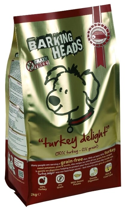 Barking Heads Беззерновой корм для собак с индейкой и бататом Бесподобная индейка (18 кг)
