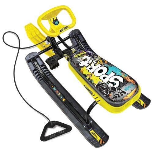 Снегокат Nika Тимка спорт 2 граффити желтый снегокат ника тимка спорт 2 высота 420 мм граффити зеленый tc гз