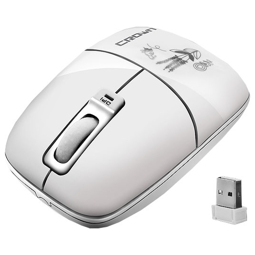Мышь CROWN CMM-901W White USB