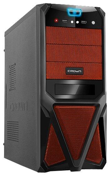 CROWN Компьютерный корпус CROWN CMC-SM161 450W Black/orange