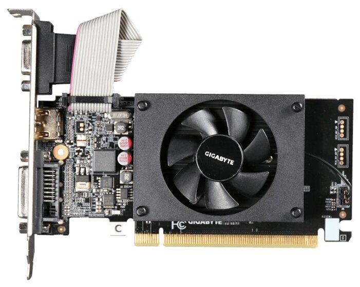 GIGABYTE GeForce GT 710 954Mhz PCI-E 2.0 1024Mb 1800Mhz 64 bit DVI HDMI HDCP