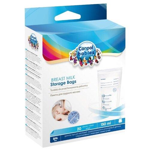 Купить Canpol Babies Пакеты для хранения грудного молока 150 мл бесцветный 20 шт., Хранение грудного молока
