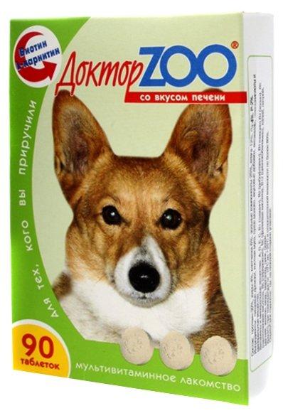 Доктор ZOO Витамины для собак со вкусом печени