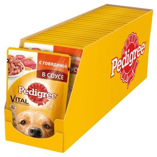 Корм для собак Pedigree Для взрослых собак всех пород с говядиной в соусе (0.1 кг) 24 шт.Корма для собак<br>