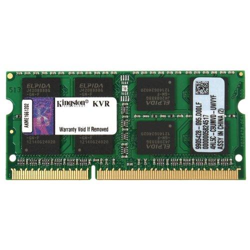 Купить Оперативная память Kingston DDR3 1600 (PC 12800) SODIMM 204 pin, 8 ГБ 1 шт. 1.5 В, CL 11, KVR16S11/8