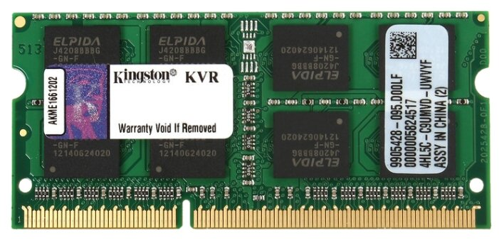 Модуль памяти Kingston DDR3 SO-DIMM 1600MHz PC3-12800 - 8Gb KVR16S11/8