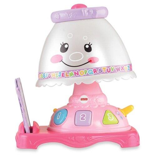 Интерактивная развивающая игрушка Fisher-Price Смейся и учись. Обучающая лампа серый/розовый