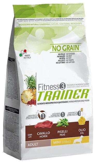 Корм для собак TRAINER Fitness3 No Grain Adult Mini Horse and peas dry