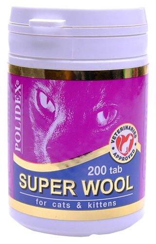 Витамины Polidex Super Wool для кошек