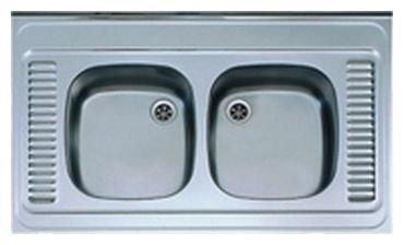 Накладная кухонная мойка ALVEUS Classic 80 100х80см нержавеющая сталь