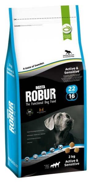 Корм для собак Bozita Robur для здоровья кожи и шерсти, лось 2 кг