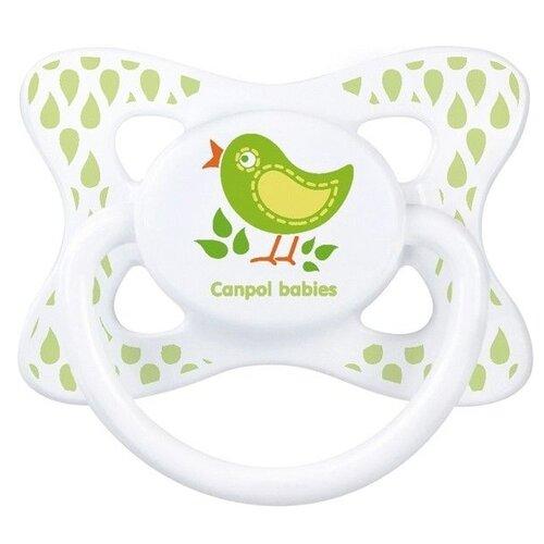 Купить Пустышка силиконовая анатомическая Canpol Babies Summertime 6-18 м (1 шт) салатовый, Пустышки и аксессуары