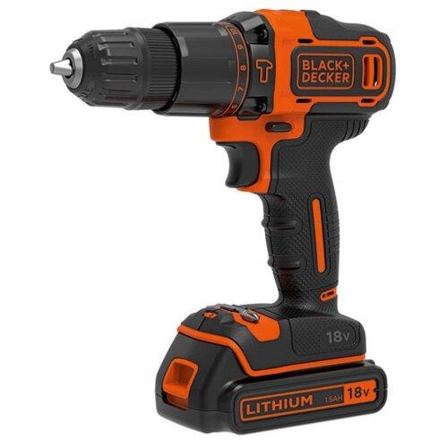 цена на Ударная аккумуляторная дрель-шуруповерт BLACK+DECKER BDCHD18KB 40 Н·м черный/оранжевый