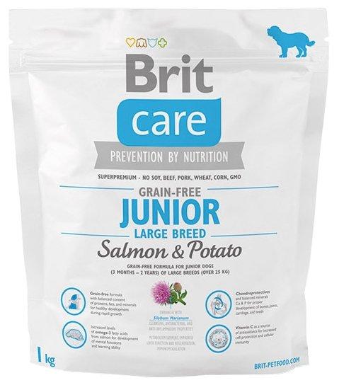 Корм для собак Brit Care лосось с картофелем 1 кг (для крупных пород)