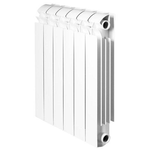 Радиатор секционный алюминий Global VOX R 500 x12 теплоотдача 1524 Вт, подключение универсальное боковое RAL 9010 биметаллический радиатор rifar рифар b 500 нп 10 сек лев кол во секций 10 мощность вт 2040 подключение левое