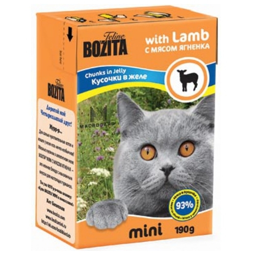 Bozita Feline MINI chunks in jelly with Lamb (0.19 кг) 16 шт. Корма для кошек
