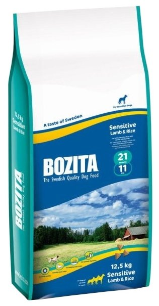 Корм для собак Bozita для здоровья кожи и шерсти, ягненок с рисом 12.5 кг