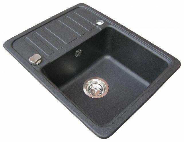 Врезная кухонная мойка AQUASANITA Notus SQ102 57.5х46см искусственный гранит