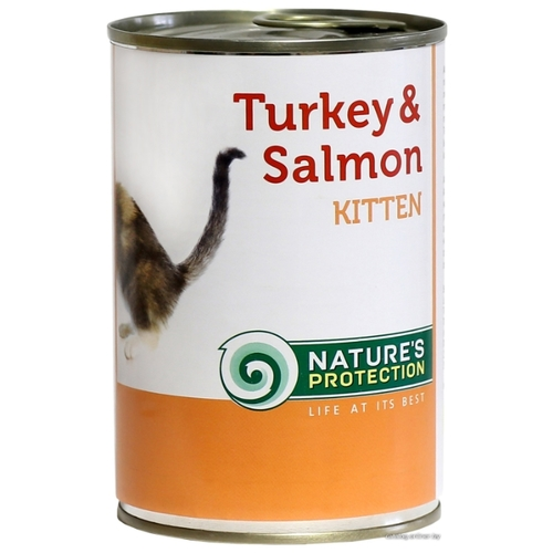 Корм для кошек Nature's Protection Консервы Kitten Turkey & Salmon (0.4 кг) 1 шт.