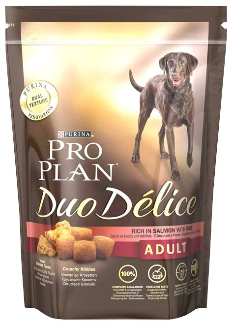 Корм для собак Purina Pro Plan Duo Delice Adult сanine rich in Salmon with Rice dry