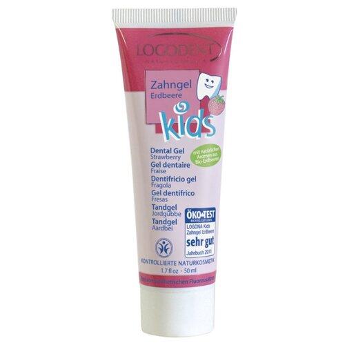 Купить Зубной гель Logona Erdbeere 2+, 50 мл, Гигиена полости рта