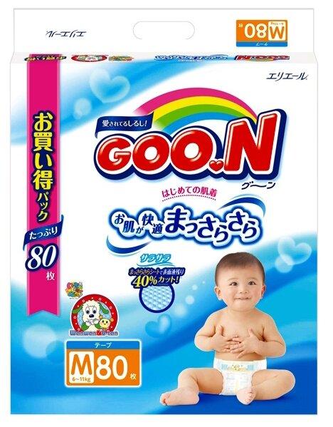 Goo.N подгузники M (6-11 кг) 80 шт.
