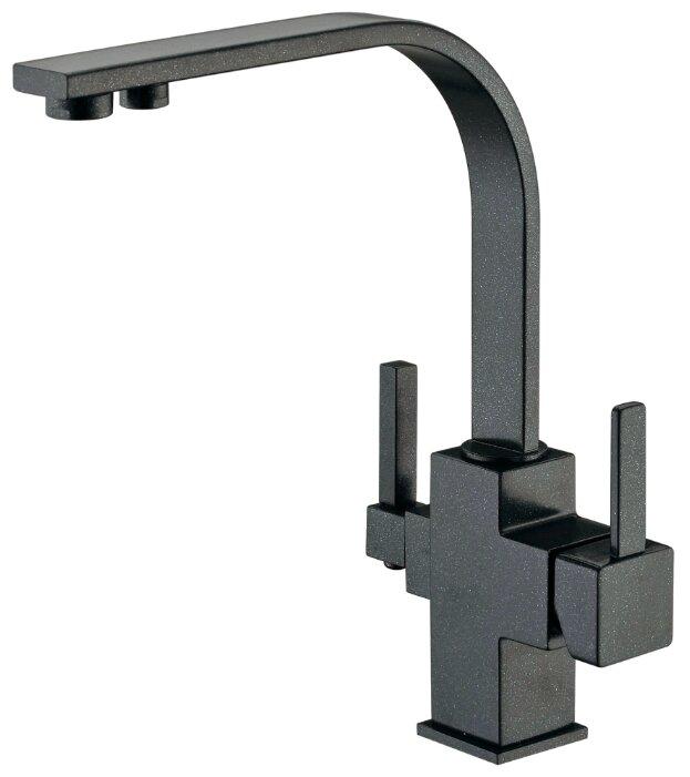 Однорычажный смеситель для кухни (мойки) ZorG ZR 332-YF черный металл