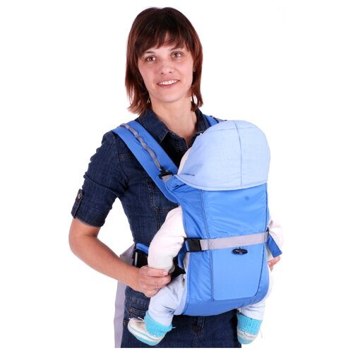 Рюкзак-переноска Чудо-Чадо BabyActive Simple голубой чудо чадо рюкзак кенгуру babyactive choice неон цвет синий