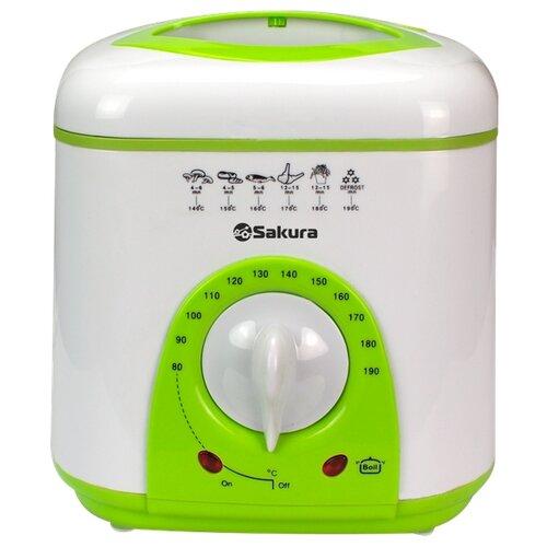 Фритюрница Sakura SA-7654 зеленый/белый