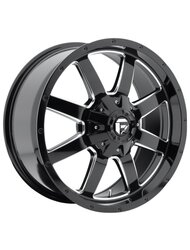 Диск Fuel Frontier 9x20/5x114,3*5x127 ЕТ30 D72,69 Gloss Blk/Machined - фото 1