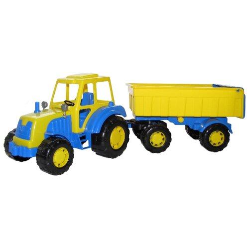 Фото - Трактор Полесье с прицепом Алтай (35332) 59 см трактор полесье алтай с прицепом 2 и ковшом 35363 66 см