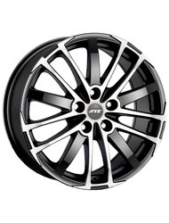 Диск ATS X-Treme 7,5x17/5x108 ЕТ45 D70,1 Racing black front polished - фото 1