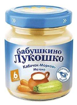 Пюре Бабушкино Лукошко кабачок-морковь-молоко (с 6 месяцев) 100 г
