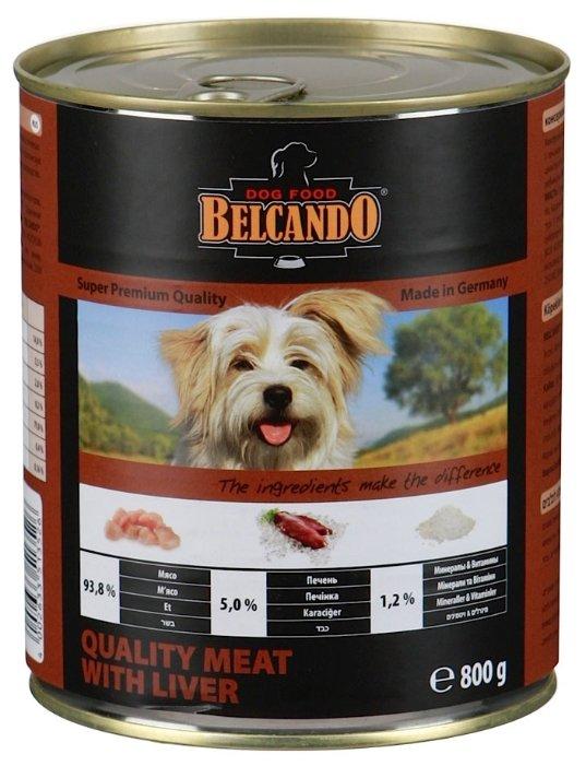 Корм для собак Belcando Отборное мясо с печенью (0.8 кг) 12 шт.