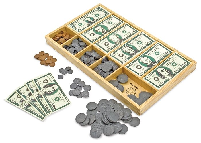 Деньги игрушечные Melissa & Doug Деревянные игрушки (1273)