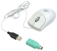 Мышь Logitech RX250 Optical Mouse White USB+PS/2