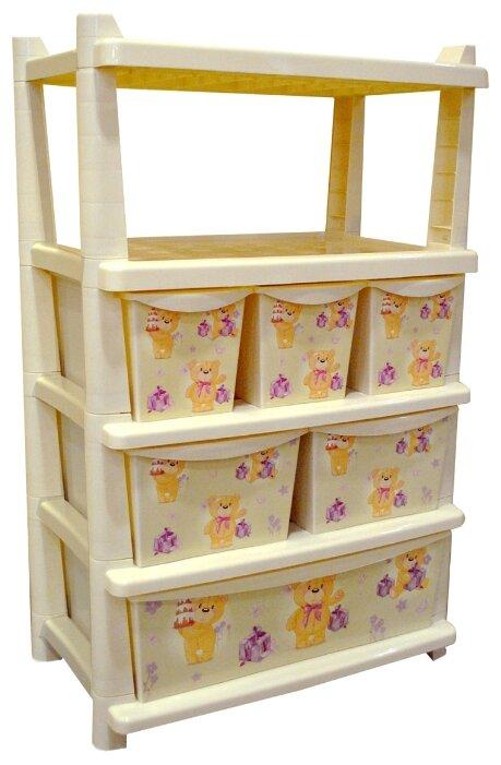 Бельевой комод Little Angel Для игрушек 6 секций 610