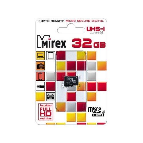 Фото - Карта памяти Mirex microSDHC Class 10 UHS-I U1 32GB карта памяти mirex sdxc class 10 uhs i u1 64gb