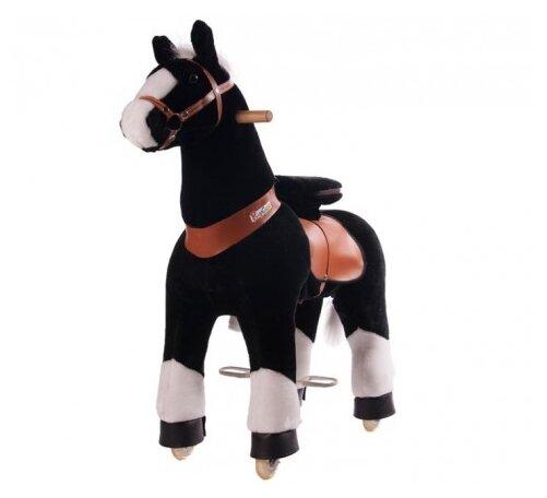 Поницикл Ponycycle Лошадка черная Ночка средний (4181) со звуковыми эффектами