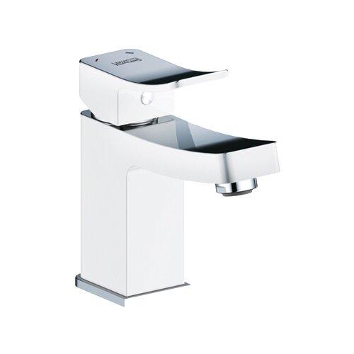 Смеситель для раковины (умывальника) WasserKRAFT Aller 1063 white однорычажный белый/хром смеситель для раковины умывальника wasserkraft lossa 1203 двухрычажный хром