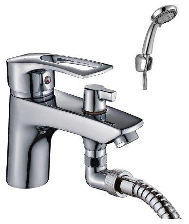 Однорычажный смеситель для ванны с душем Rossinka Silvermix T40-38