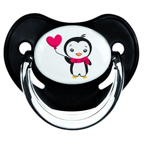 Купить Пустышка силиконовая ортодонтическая Canpol Babies Penguin 6-18 м (1 шт) черный, Пустышки и аксессуары