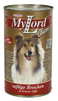 Корм для собак Dr. Alder`s МОЙ ЛОРД КЛАССИК печень + говядина кусочки в желе Для взрослых собак (1.24 кг) 6 шт.