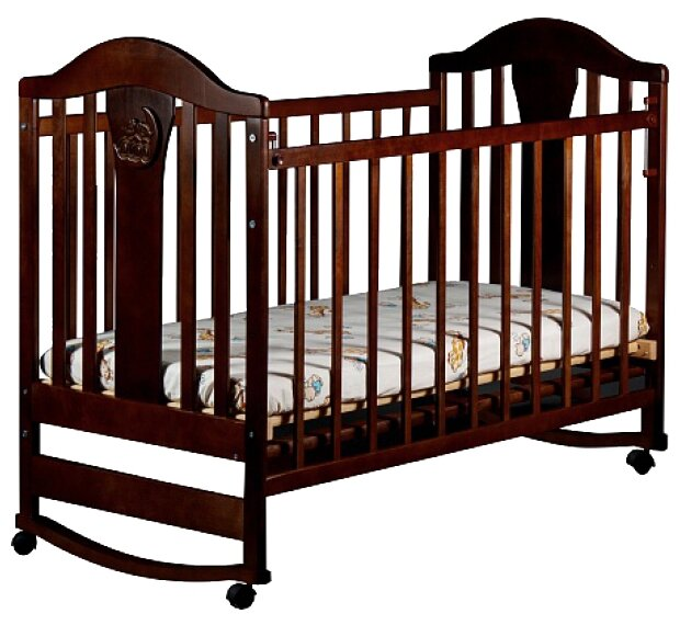 Кроватка Ласка-М Наполеон NEW (колесо-качалка) без ящика