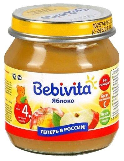 Пюре Bebivita яблоко (с 4 месяцев) 100 г, 1 шт