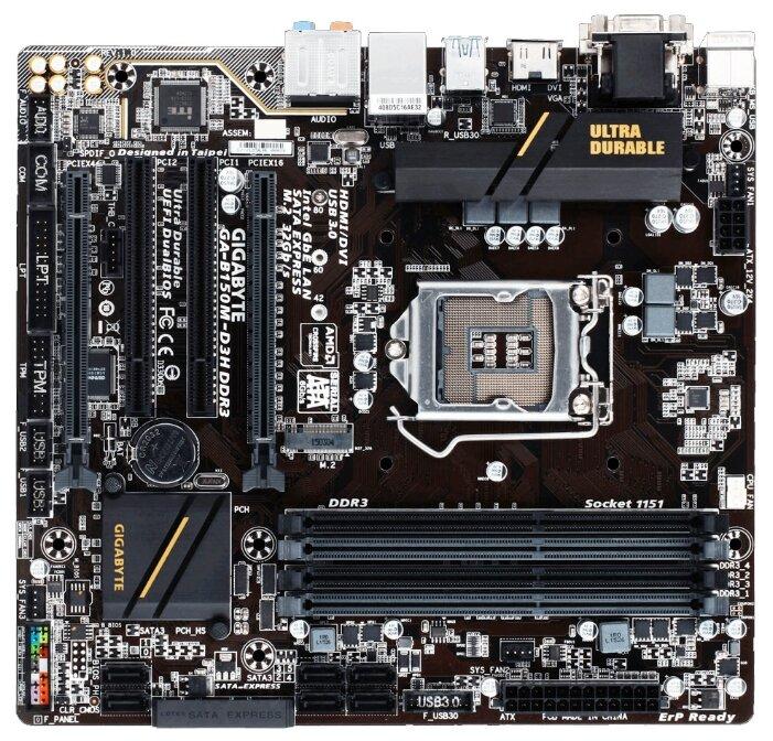 GIGABYTE GA-B150M-D3H DDR3 (rev. 1.0)