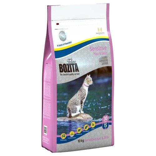Корм для кошек Bozita для здоровья кожи и шерсти, для вывода шерсти, с лососем 10 кгКорма для кошек<br>