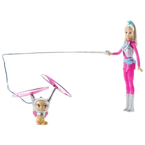 Кукла Barbie Космические приключения с летающим котом Попкорном, 29 см, DWD24