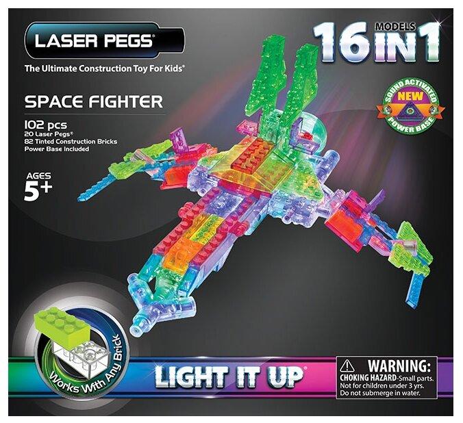Конструктор Laser Pegs Triangle Power Base G9030B Космический истребитель 16 в 1