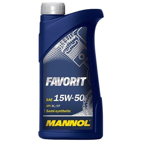 Фото - Полусинтетическое моторное масло Mannol Favorit 15W-50 1 л минеральное моторное масло mannol ts 1 shpd 15w 40 10 л